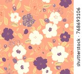 vector illustration of floral... | Shutterstock .eps vector #768693106