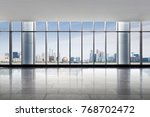 empty office and cityscape of... | Shutterstock . vector #768702472