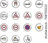 line vector icon set   traffic...   Shutterstock .eps vector #768703222