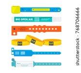 entrance bracelets for public... | Shutterstock .eps vector #768706666
