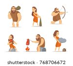 characters of male and female.... | Shutterstock .eps vector #768706672