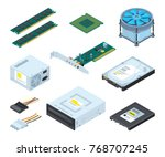 different hardware parts and... | Shutterstock .eps vector #768707245