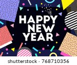 happy new year. text. vector... | Shutterstock .eps vector #768710356
