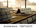 bench in the terminal of... | Shutterstock . vector #768716515