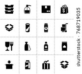packaging icons. vector...