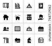 residential icons. vector... | Shutterstock .eps vector #768719062