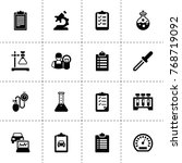 test icons. vector collection...