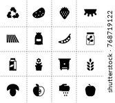 organic icons. vector...