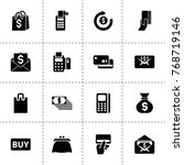 buy icons. vector collection...