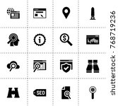 search icons. vector collection ...