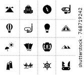 adventure icons. vector...
