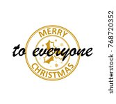 merry christmas and happy new... | Shutterstock .eps vector #768720352