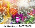 decoration of christmas tree... | Shutterstock . vector #768722008