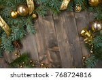 christmas decoration on the... | Shutterstock . vector #768724816