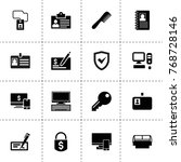 personal icons. vector...