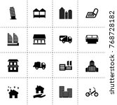 city icons. vector collection...