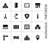 architecture icons. vector...