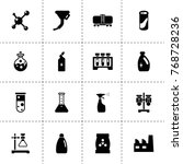 chemical icons. vector... | Shutterstock .eps vector #768728236