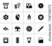 machine icons. vector...