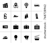 trip icons. vector collection...