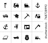 heavy icons. vector collection...