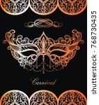 carnival mask. beautiful...   Shutterstock .eps vector #768730435