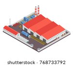modern isometric industrial... | Shutterstock .eps vector #768733792