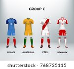 mockup of group c football... | Shutterstock .eps vector #768735115