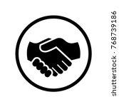 vector of handshake icon in... | Shutterstock .eps vector #768739186