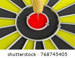 dart board with arrow  isolated ... | Shutterstock . vector #768745405