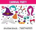 carnival party bright... | Shutterstock .eps vector #768746905