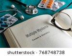open book of prostate multiple... | Shutterstock . vector #768748738