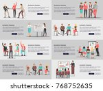 business training seminars set... | Shutterstock .eps vector #768752635