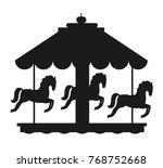 Rotating Horses Merry Go Round...