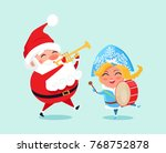happy father christmas and...   Shutterstock .eps vector #768752878