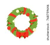 christmas wreath simple icon.... | Shutterstock .eps vector #768759646