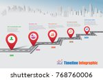 business road map timeline... | Shutterstock .eps vector #768760006