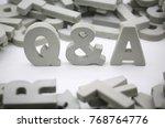 block of word question   answar | Shutterstock . vector #768764776