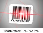 realistic barcode sticker with... | Shutterstock . vector #768765796