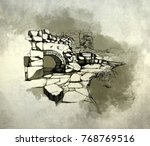 stone architecture landscape   Shutterstock . vector #768769516