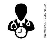 doctor appointment icon vector... | Shutterstock .eps vector #768770362