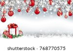 gray christmas card with with... | Shutterstock .eps vector #768770575