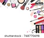 cosmetics set  hand drawn style ... | Shutterstock .eps vector #768770698