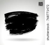 black brush stroke and texture. ...   Shutterstock .eps vector #768771472