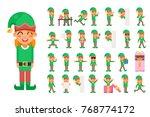 elf girl christmas santa claus...   Shutterstock .eps vector #768774172
