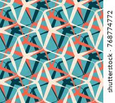 abstract geometric seamless... | Shutterstock .eps vector #768774772