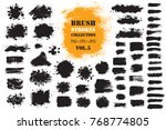brush strokes set. grunge... | Shutterstock .eps vector #768774805