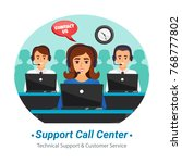 technical support customer... | Shutterstock .eps vector #768777802
