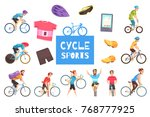 cycle racing sports... | Shutterstock .eps vector #768777925