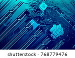 circuit board. electronic... | Shutterstock . vector #768779476